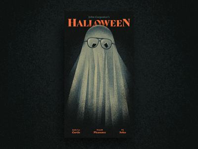 Halloween VHS Cover horror movie movie poster vhs texture ghost spooky michael myers horror illustration halloween