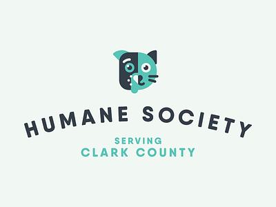 Humane Society Serving Clark County branding humane society cat dog pets logo