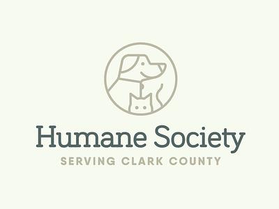 Humane Society Serving Clark County humane society logo pets dog cat branding