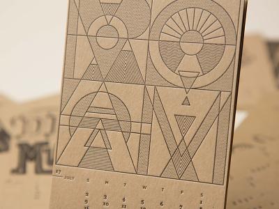 ROAM line work 12 musketeers july calendar typography letterpress roam