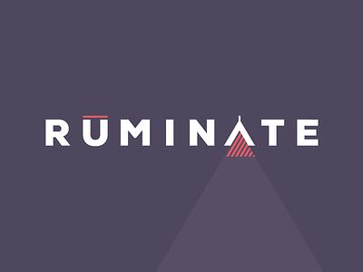 RUMINATE interior design logo branding