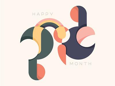 Happy Pride Month rainbow queer gay lgbtq pride typography