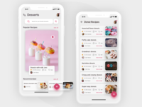 Dessert Recipes ios App Concept
