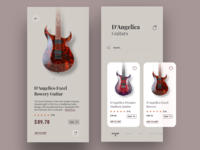 E-commerce Concept App | Guitar store