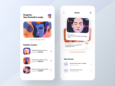 Digital Portraits App portraits app digital portrait portrait uxdesign colors cards visual design user interface app design app typography uiuxdesigner uiuxdesign uidesigner uidesigns ui design uidesign uiux ux ui