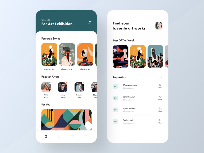 Art Gallery App #2 artwork artgallery uiuxdesigner uiuxdesign ui design app concept uidesigners uidesigner uidesign app design design icons ios colors cards visual design ux ui app typography