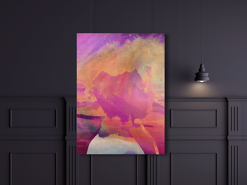 Viro Print strokes profile pinks pastel headspace abstract