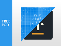 Material Design Icon Template - Freebie PSD