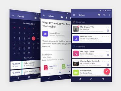 Mail App Concept list to do cards mobile design ux ui agenda productivity calendar material design android app mail