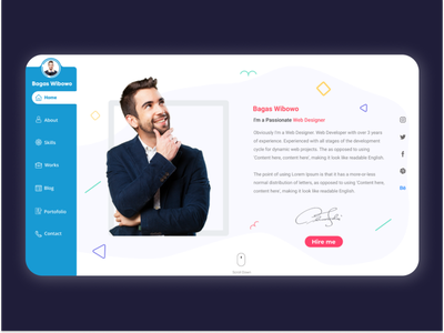 Home Curriculum Vitae cv resume template cv template cv design cv resume ilustration minimal dark mode web flat design