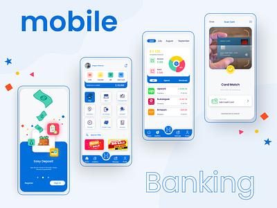 Mobile Banking mobile design ui design banking dashboard banking bank bankingapp mobile app mobile ui