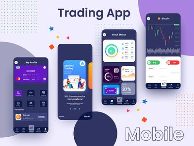 Trading Mobile App design mobile design mobile stock market trading card mobile app design app mobile ui trading app