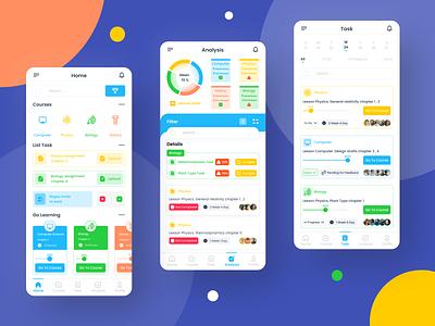 Online Learning (e-learning) - Mobile App design mobile design ui minimal lesson e-learning learning online learning course app mobile