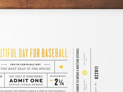 Ticket Poster poster typography champion sweet sans baseball