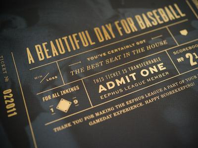Foil Poster baseball typography foil