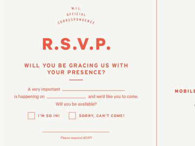 RSVP typography invite rsvp interstate