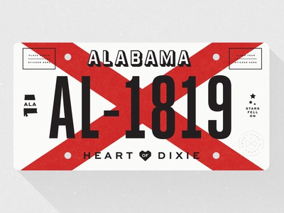 Alabama License Plate license plate state plate typography alabama