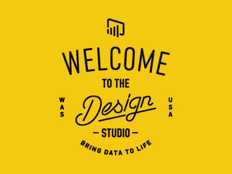 Power BI badge badge microsoft lettering typography