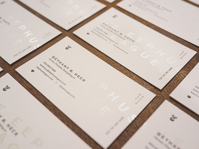 Eephus business cards branding letterpress interstate sweet sans foil baseball business card