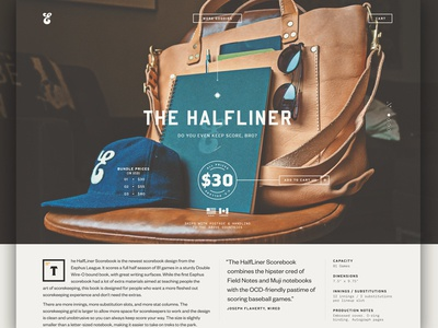 Product Page brothers sports web webpage product page typography website baseball