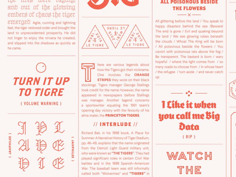 Tigre Poster 1 blackletter typography poster