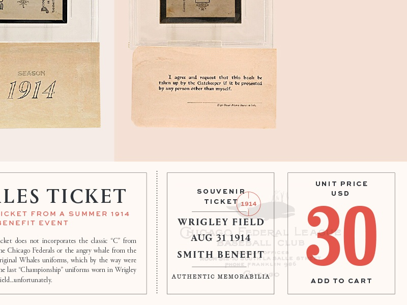 Whales ticket typography sports ticket baseball
