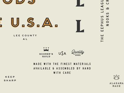 Eephus typography baseball badge typography