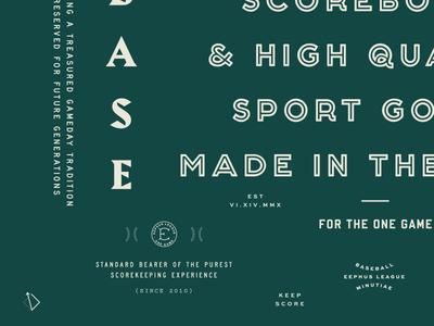 Eephus Green baseball badge typography