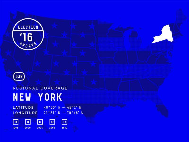 FiveThirtyEight Map america election flag map