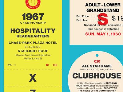 Fontacular Tickets neue haas grotesk typography tickets baseball