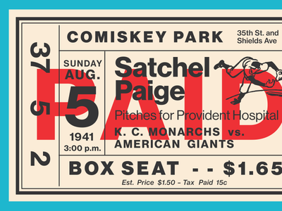 Fontacular Baseball Ticket