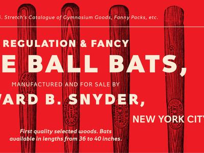 Fancy Bats & Fanny Packs fontacular typography baseball