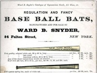 Snyders baseball bats 1875