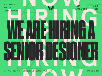 We are hiring a Senior Designer