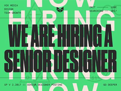We are hiring a Senior Designer vox media hiring