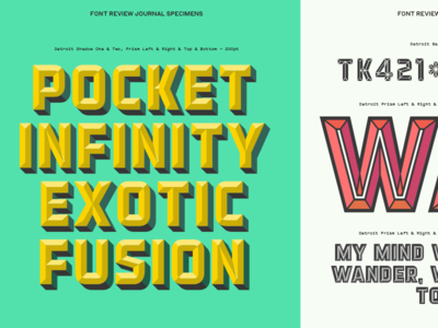 Detroit Specimen layered type dimensional font review typography detroit