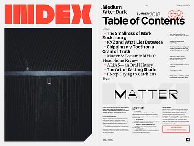 INDEX italian typography spread publication