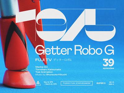 Getter Robo G Process Article maelstrom sans medium typography anime