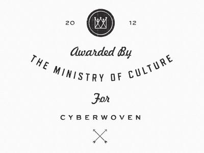 Ministry Award typography sweet sans arrows vintage