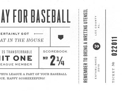 Eephus Ticket baseball ticket champion sweet sans vintage typography