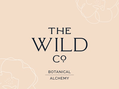 THE WILD Co. Logo Design visual identity wellness brand minimalist logo logo inspiration brand identity graphic design flower boho branding boho design logodesign logo