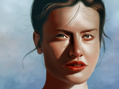 Portrait Study digital illustration digital art shadows woman girl face portrait illustration