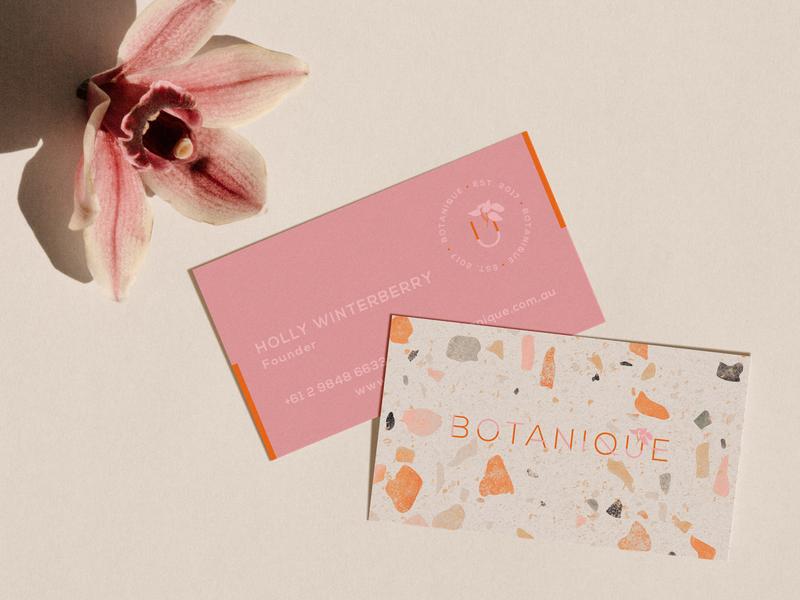 BOTANIQUE business card logo boho branding design flowers visual identity minimal design flower boho design graphic design branding