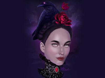 A spooky portrait for halloween! gothic art spooky halloween illustration dribbbleweeklywarmup illustration