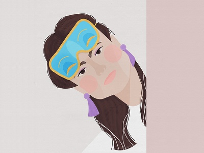 Holly 1960s movie woman person face breakfast at tiffanys portrait holly golightly girl illustration