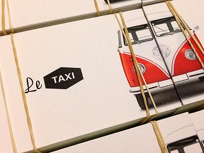 Le Taxi fine paper business card volkswagen vintage