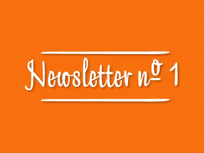 Newsletter newsletter banner orange