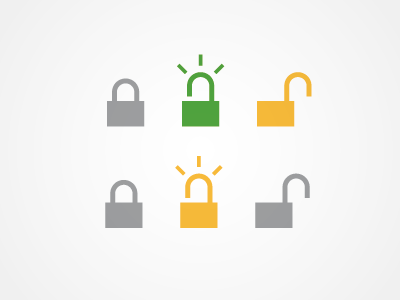 Lock lock unlock icon validation authentication storytelling process