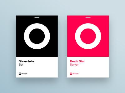 Boooom ID Cards cards identity jobs leadership design helvetica now typogaphy brand