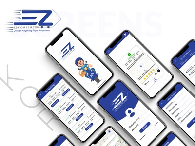 EZ Korier App Screens